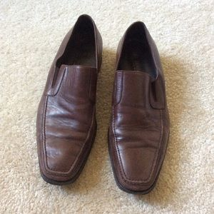 Bruno Magli Dark Brown Leather Loafer Flats 11.5
